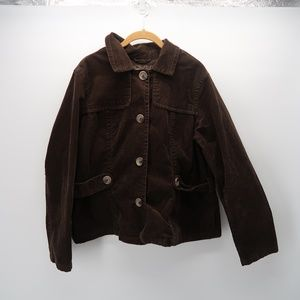 OLD Navy Brown Button Front Corduroy Blazer Jacket